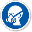 Wear Respirator ISO Mandatory Safety Label