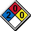 NFPA 704 Hazmat Diamonds Safety Sign