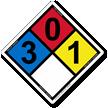 NFPA 704 Hazmat Safety Sign