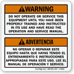 Bilingual Dump Truck Operation Warning Label