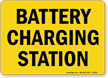 Battery Charging Station Sign