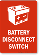Battery Disconnect Switch Sign
