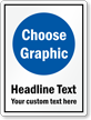 Choose Clipart, Add Your Headline And Custom Text Sign