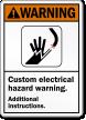 Custom Electrical Hazard ANSI Warning Sign