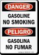 Gasoline No Smoking Bilingual Sign