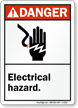 Danger ANSI Electrical Hazard Sign