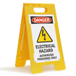 Electrical Hazard Authorized Personnel Only Standing Floor Sign