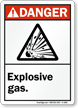 Danger ANSI Explosive Gas Sign