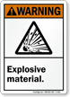 ANSI Warning Explosive Material Sign