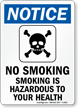 Smoking is Hazardous to Your Health Sign