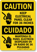 Keep Electrical Panel Clear 36inches Sign