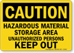 Danger Hazardous Material Authorized Personnel Sign