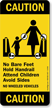 No Bare Feet Hold Handrail Attend Children Sign