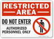 OSHA Restricted Area Sign and Label