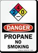 Propane No Smoking Danger Sign with NFPA Symbol