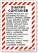 Sharps Container Safety Sign