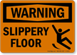 Warning Slippery Floor Sign