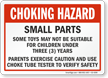 Choking Hazard Sign