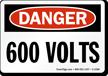 OSHA Danger High Voltage Sign and Label