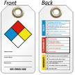 2 Sided Hazardous Material Tag With Metal Eyelet