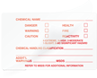 Chemical Name and Warnings Self-Laminating Label