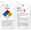 Gasoline GHS and NFPA Tag