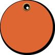 3 in. circle Fluorescent Orange Vinyl Tags