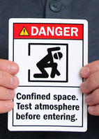Confined Space Test Atmosphere Before Labels