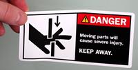 Danger Moving Parts Severe Injury Label