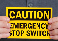 Emergency Stop Switch Caution Labels