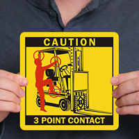 3 Point Contact Label - Forklift Seat