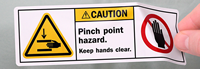 Pinch Point Hazard Label