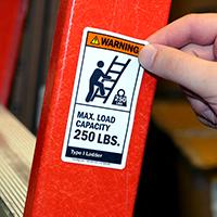 Max. Load Capacity 250 LBS. Label