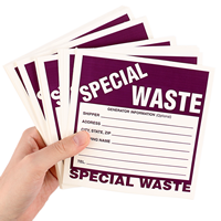 Special Waste Vinyl Drum Warning Labels (100)