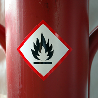 GHS Flame Pictogram Label