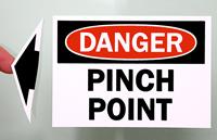 OSHA Danger - Pinch Point Label