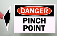 OSHA Danger - Pinch Point Label