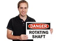 Danger Rotating Shaft Labels