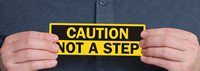 Caution Not A Step Labels
