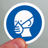 ISO M016 - Wear a Mask Symbol Labels