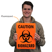 Caution Biohazard Signs
