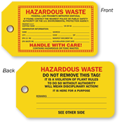 Hazardous Waste Hang Tag