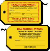 Hazardous Waste Hang Tag
