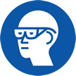 Wear Goggles with side Shield Symbol