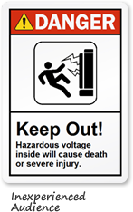 Hazardous Voltage Label