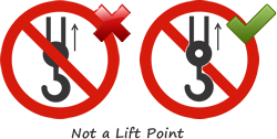 Not Lift with Hook Symbol