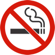 No Smoking Symbol with Red Slash on Top