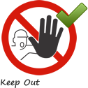 Keep Out Symbol