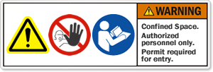 Warning Label with Multiple Symbols