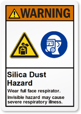 Silica Dust Warning with Multiple Symbols